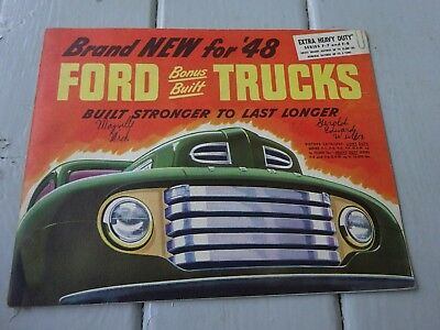 1948 Ford Built Trucks Sales Booklet