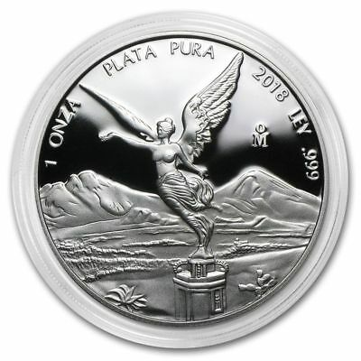 2018 Mexico 1 oz Fine Silver 999 Proof Libertad in Capsule