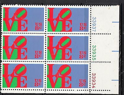 UNITED STATES 8c Love Plates 33934,33935,33937  Block of 6 MUH