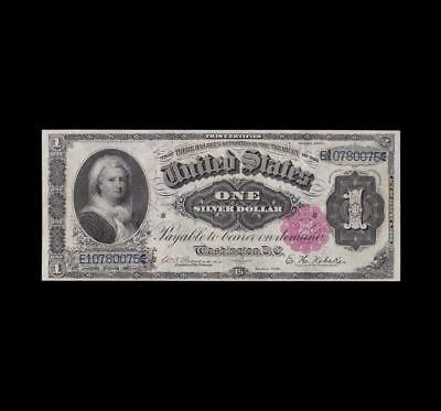 Gorgeous 1891 $1 Silver Certificate Martha Almost Uncirculated