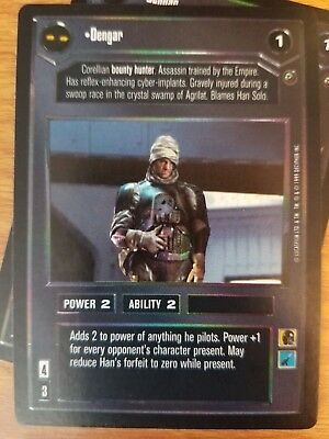 Dengar FOIL REFLECTIONS I star wars ccg swccg Near Mint/Mint