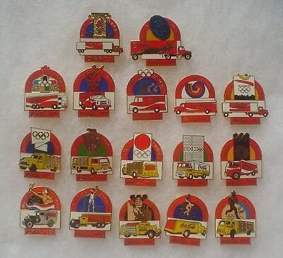 17 Coca Cola Olympic Truck Pins ~ 1928 to 2000
