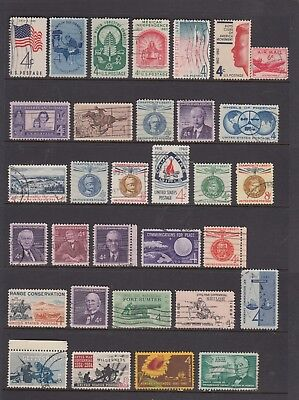 UNITED STATES Collection Mostly 1960's 4c Issues  USED