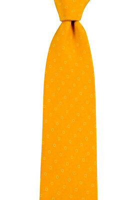 "New BRIONI Dis N 1063 Indian Yellow Geometric Handmade 3.25"" Silk Neck Tie NWT"