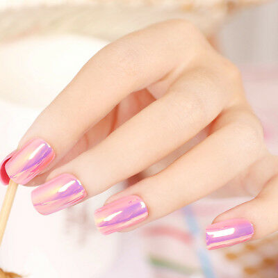E55 24Pcs Japanese Style Bling Bling Non Glue Drill Nail Tips Fake Nails A