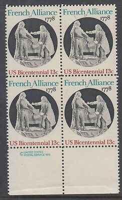 UNITED STATES 13c French Alliance (Imprint)    Block of 4 MUH