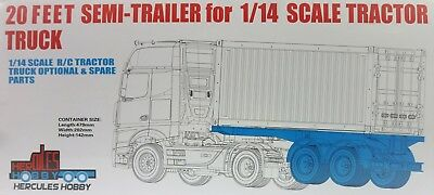 20 foot Bogie Container Trailer for Tamiya 1:14 RC Tractor Trucks & Prime Movers