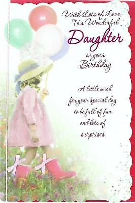 BIRTHDAY CARD Greeting Card Beautiful Daughter Unicorn Fairy