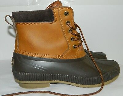 0a23c075f74 TOMMY HILFIGER DUCK Boots TMCharlie Brown Rubber & Leather MENS 9