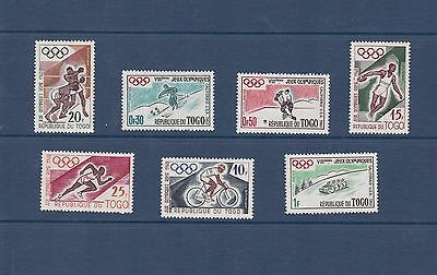 Togo 1960 Olympic Games Set MH SG244-50 VGC