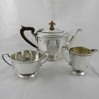 Vintage Art Deco Solid Silver Tea Set Chester 1933 Barraclough Sons 510 G