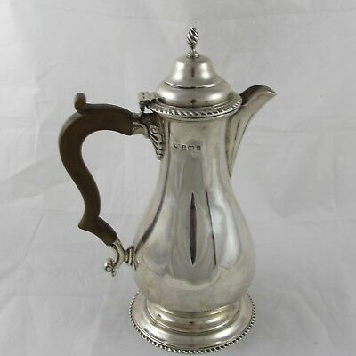 Antique Style Solid Sterling Silver Water / Claret Wine Jug Birmingham 1918 449G
