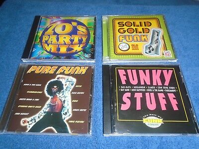 LOT OF 4 Funk Dance Music Party Mix Albums Cds 70's Solid Gold Funky Stuff  etc