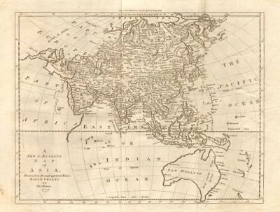 """A new & accurate map of Asia"" by T. Bowen. Lost Philippine San Juan island 1779"