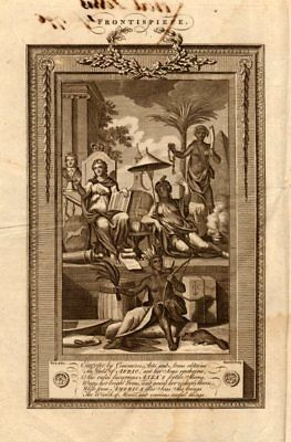 Frontispiece to Middleton's system of geography. Europe Africa Asia America 1779