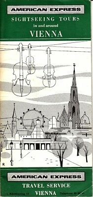 American Express Sightseeing Tours in and around Vienna Austria 1963 Vtg Booklet