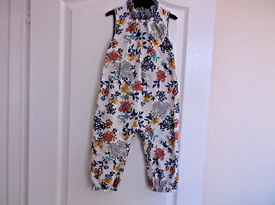 Girls Floral Marks and Spencer Cotton Jumpsuit age 18-24 Months