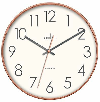 'Hoxton' Copper Effect Wall Clock With Sweep Action by Acctim 30cm