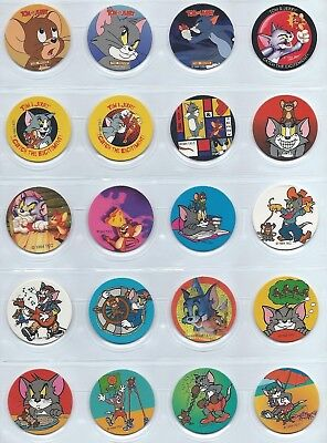 1994 TEC Cyclone Tom & Jerry 1-30 Pog Set Pogs Milk Caps Milkcaps