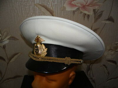 Russian army  military parade  white visor hat NAVY Captain  officer  199X sz 57