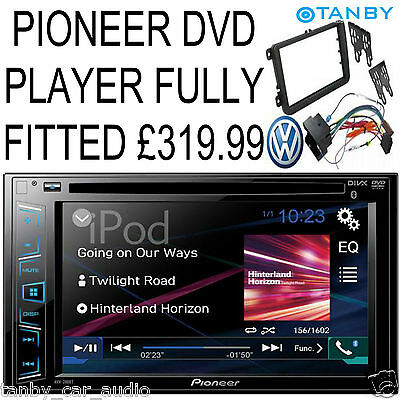 "Pioneer AVH-280BT 2DIN Car CD DVD USB Aux In Stereo With Bluetooth 6.2"" Touchscr"