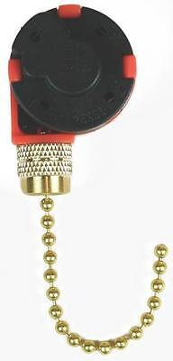 New Jandorf 60303 Black 3 Speed 4 Wire Ceiling Fan Switch Pull Chain 3404514
