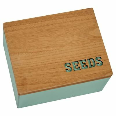 Transomnia Wooden Seeds Rustic Laser Cut Storage Box for Garden Shed Allotment