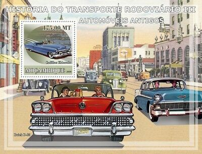 Cadillac Eldorado & 1958 Buick Car Stamp Sheet (2009 Mozambique)