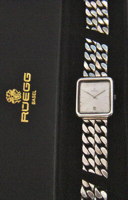 Massive Silberuhr mit Band 925 Sterling