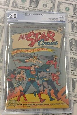 All Star Comics #36 PGX 6.0 Comic Book, Justice Society of America Cover