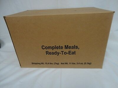 Collectable - Case US Military MRE Field Ready Rations Wornick Co. Menu 1-4
