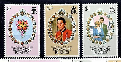 Solomon Islands (881) 1981 Royal Wedding set Unmounted mint Sg445-7