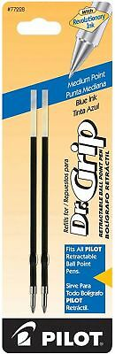 Pilot Dr. Grip Ballpoint Ink Refill, 2-Pack for Retractable Pens, Medium Point,
