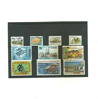 Commonwealth Ghana/  Africa   one stock card used  collection stamps