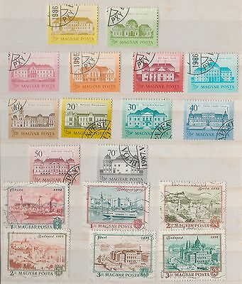 HUNGARY COLLECTION on Album Page Buildings VFU as per scan, removed to send #