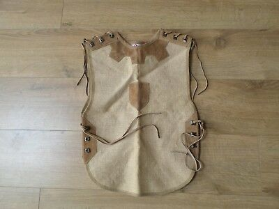 FANTASHION,GERMANY HISTORICAL LEATHER & HESSIAN LACED TABARD reenactment,LARP