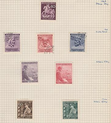 CZECHOSLOVAKIA  1943-44 Bohemia and Moravia on Old Book Pages,as per scan #