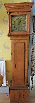 Old Pine Long Case Clock with Brass Face Taylor Petworth John Taylor c 1780