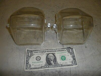"""2 SORVALL CENTRIFUGE BUCKET LIDS-PART 11725 w SCREW LATCHES-3-3/4"""" x 4-1/2"""""""