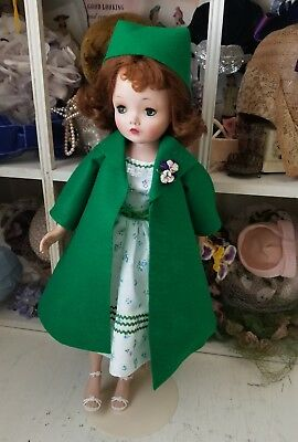 Chic Green coat and dress set for a Madame Alexander Cissy