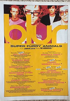BLUR - 1997 UK Concert Tour Dates Full-Page Magazine Advert - Britpop