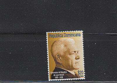Dominican Republic 2009 President Bosch Sc 1469  mint never hinged