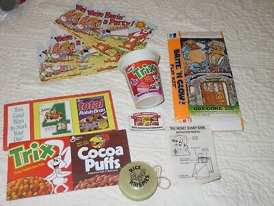 Small Lot Vintage CEREAL Related Items & Premiums See Photos