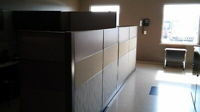 """ALLSTEEL Terrace 7'6"""" x 8 Office Cubicles Two Complete offices"""