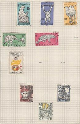 CZECHOSLOVAKIA 1962 Wild Animals etc on Old Book Pages,as per scan #