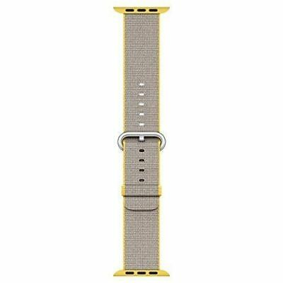 Apple watch sport band 38mm Yellow / Light Gray Woven Nylon