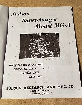 "Vintage Mga ""supercharge With Judson"" Install Procedure + Supercharging Facts"