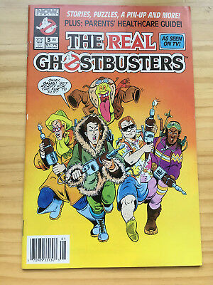 The Real Ghostbusters # 3 Fn/vf Mini Series Newsstand Edition Slimer Now Comics