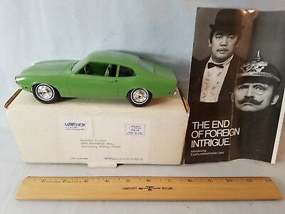 MIB Orig Mailing Box C 1970 Ford Maverick 1/25 Scale Promotional Model Green NR
