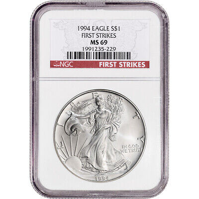 1994 American Silver Eagle - NGC MS69 - First Strikes